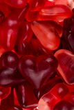 Brightly coloured red gums hearts Royalty Free Stock Photos
