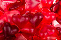 Brightly coloured red gums hearts Stock Image
