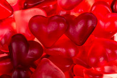 Brightly coloured red gums hearts Stock Photo