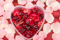 Brightly coloured red gums hearts Royalty Free Stock Image