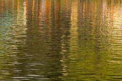 Brightly coloured reflections in the ripples Stock Image