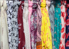 Brightly Coloured Scarves Stock Photo