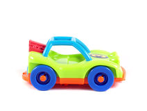 Brightly coloured toy car Royalty Free Stock Photos
