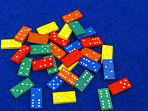 Brightly coloured toy dominoes Stock Image