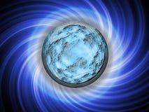 Brightly dark blue planet Royalty Free Stock Photo