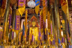 Brightly decorated Buddhist temple in Chiang Mai Royalty Free Stock Image