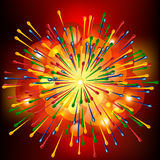 Brightly Explosion Background. Royalty Free Stock Images