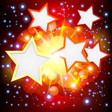 Brightly   Explosion Background with many stars. Royalty Free Stock Photo