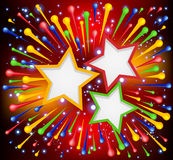 Brightly explosion paint background. Brightly explosion paint background with stars. Vector illustration stock illustration