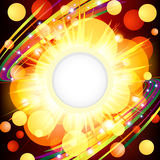 Brightly   Explosion Web design. Vector Illustration Stock Photos