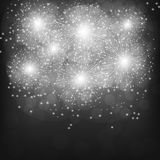 Brightly Fireworks. Black-white illustration . Brightly Fireworks. Holiday fireworks background. Black-white illustration of Fireworks Royalty Free Stock Image