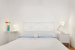 Brightly and Fresh Bedroom Suite. Brightly Lit Fresh Bedroom Suite Royalty Free Stock Photos