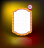 Brightly glowing retro banner. Retro Banner Promotion. Stock Images