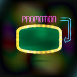 Brightly glowing retro green banner. Royalty Free Stock Photo