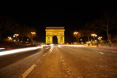 Brightly illuminated Triumphal Arch Royalty Free Stock Photography