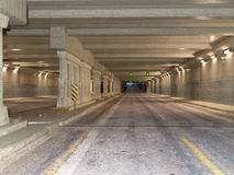 Brightly lighted contemporary tunnel Stock Images
