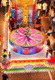 Brightly lighted floats at Wesak Procession 2011 Royalty Free Stock Photography
