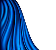Brightly lit blue curtain background. Stock Image