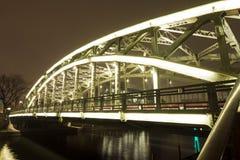 Brightly lit bridge Stock Photography