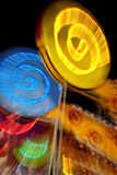 Brightly lit carnival ride Royalty Free Stock Image