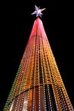 A brightly lit christmas tree Royalty Free Stock Photo