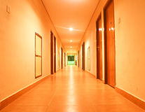 Brightly lit corridor Royalty Free Stock Photography