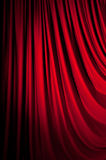 Brightly lit curtains Stock Photography