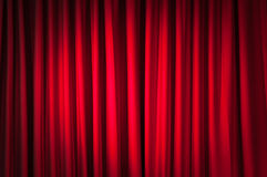 Brightly lit curtains for  background Stock Photo