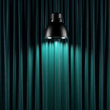 Brightly lit curtains Royalty Free Stock Images