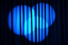 Brightly lit curtains - theatre concept Stock Photography