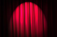 Brightly lit curtains - theatre concept stock image