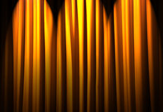 Brightly lit curtains - theatre concept. Brightly lit curtains in theatre concept Royalty Free Stock Photo