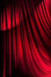 Brightly lit curtains - theatre concept. Brightly lit curtains in theatre concept Royalty Free Stock Photography