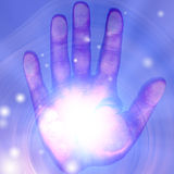 Brightly lit hand Stock Image