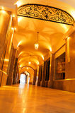 Brightly lit historical passage. Historical passage downtown Munich, Germany Royalty Free Stock Image