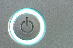 Brightly lit Power button Stock Photos