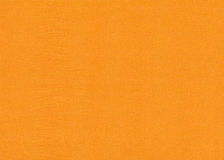 Brightly orange crumpled paper texture Stock Photos