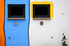Brightly painted facade Stock Image