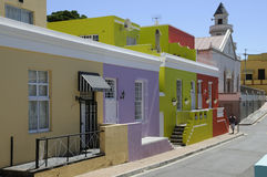 Brightly painted homes Malay Quarter Cape Town S Africa Stock Image