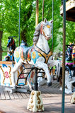 Brightly painted old carousel horse Royalty Free Stock Photos