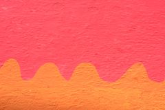Brightly painted wall in India - texture Royalty Free Stock Photography