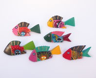 Brightly Painted Wooden Fish Royalty Free Stock Photography