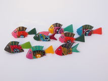 Brightly Painted Wooden Fish Royalty Free Stock Photo