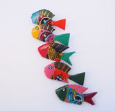 Brightly Painted Wooden Fish Royalty Free Stock Photos