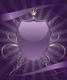 Brightly party shield emblem Stock Photo