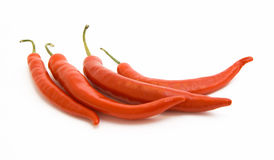 Brightly-red cayenne isolated. Brightly-red cayenne on a white background Stock Photography