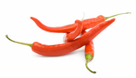 Brightly-red cayenne isolated. Brightly-red cayenne on a white background Stock Images