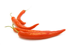 Brightly-red cayenne isolated. Brightly-red cayenne on a white background Stock Image
