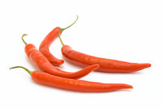 Brightly-red cayenne isolated. Brightly-red cayenne on a white background Royalty Free Stock Image