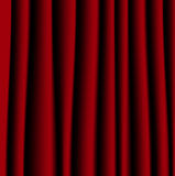 Brightly red curtain, a background for design Stock Images